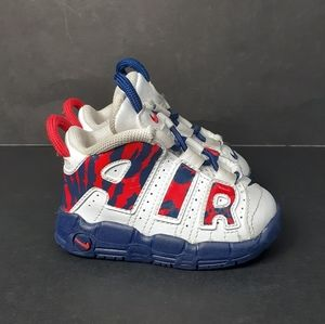 Nike Air More Uptempo White Red Blue Void Camo 4C